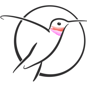 Hummingbird Haven symbol, © 2018, Brad Grigor